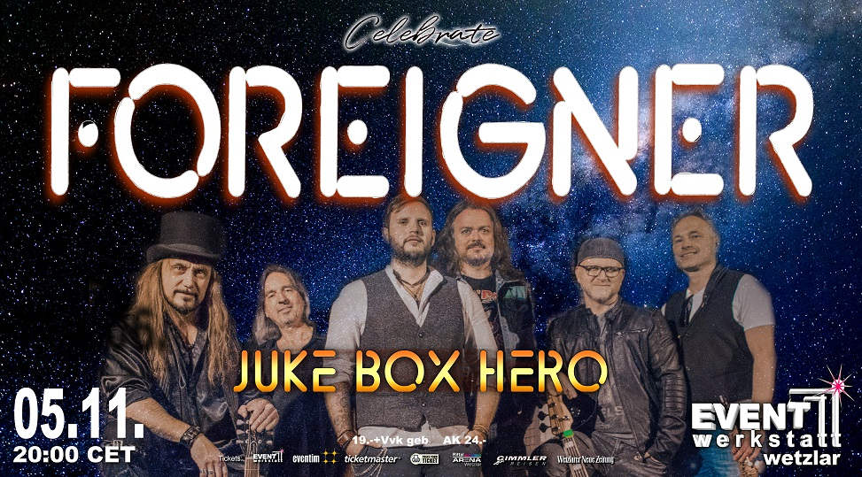 05.11.2021 - FOREIGNER celebrated by JUKE BOX HERO